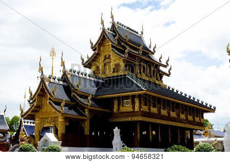 Beautiful Thai Lanna wooden
