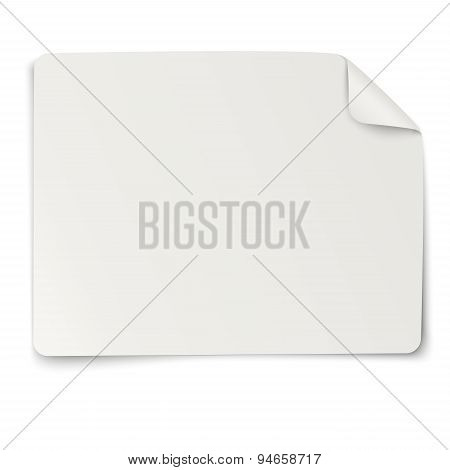 Rectangular Paper Sticker Note Isolated On White Background