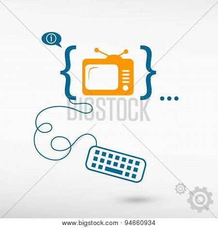 Televise And Flat Design Elements