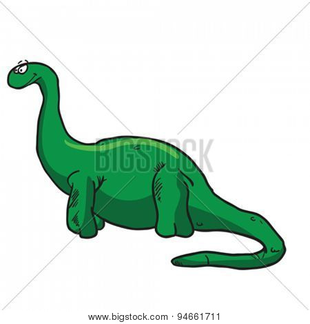 dinosaur cartoon illustration isolated on white