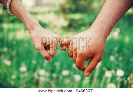 Couple In Love Holding Hands Each Other