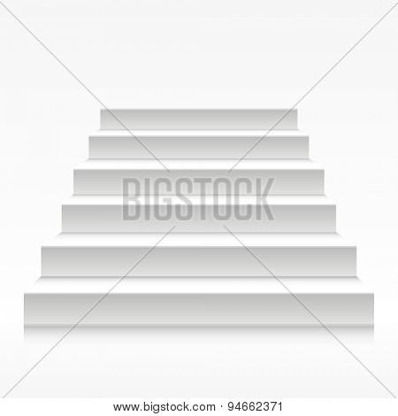 detailed illustration of white stairs, eps10 vector