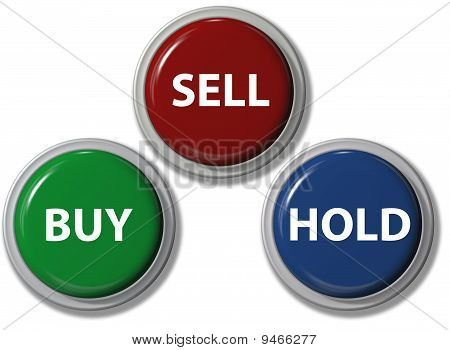 Click Buy Sell Hold Financial Buttons
