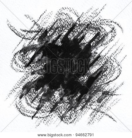 Black and white abstract hand drawn background