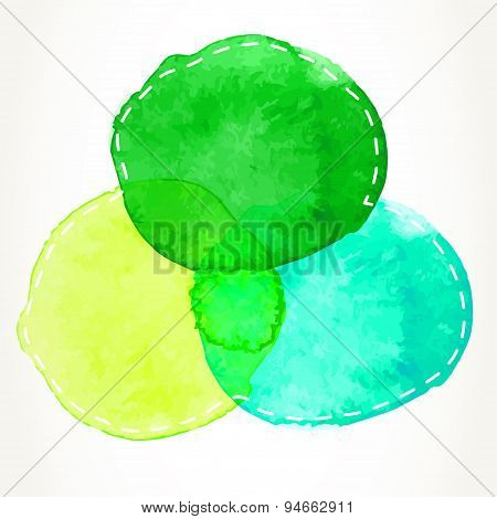 Dashed Watercolor Circles