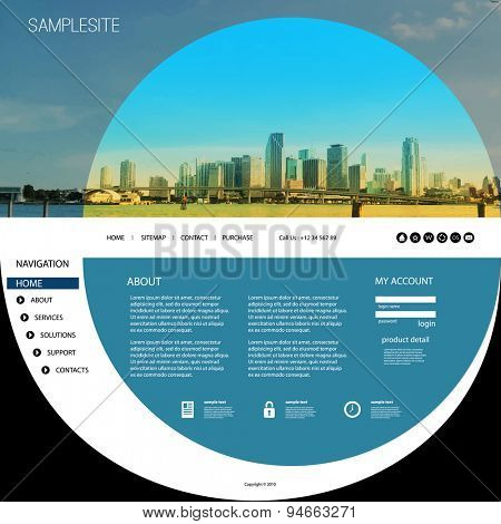 Website Template with Unique Design - Miami Skyline