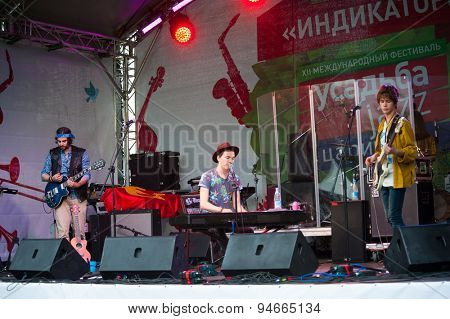 MOSCOW - JUNE 20: Malinen group performs at XII International Jazz Festival