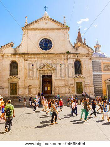 Church Of Santa Maria Del Popolo In Rome, Italy