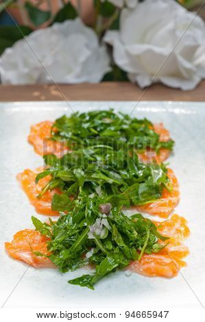 Fresh Salmon Carpaccio