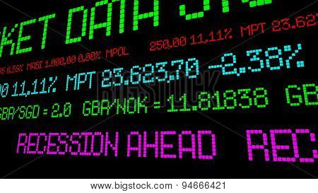 Recession Ahead Stock Ticker