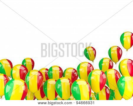 Flying Balloons With Flag Of Mali