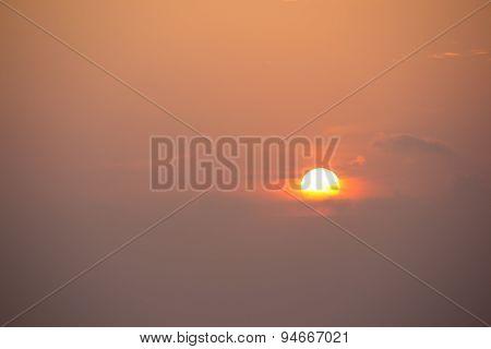 at sunset, evening glow Ceylon, Sri Lanka