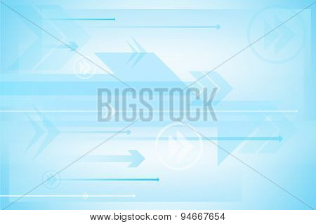 Arrow Abstract Technology Background, Vector Illustration