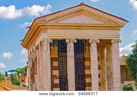 The Temple Of Portunus In Rome, Italy.