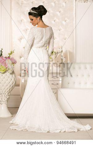 Beautiful Young Woman In Wedding Dress