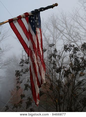 Foggy Day Flag Background Wallpaper