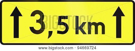 Distance Which Hazard Applies Sign In Poland