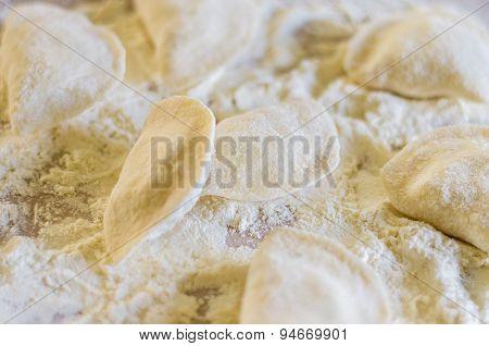 Raw Potato Dumplings Close-up