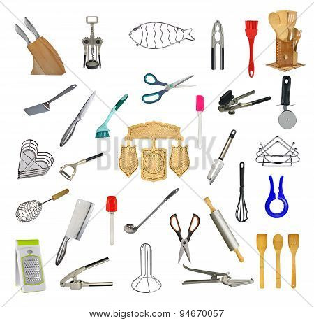 Collage Of Kitchen Tools And Accessories