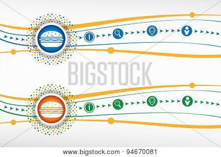 Hamburger Icon On Background For Banner, Web, Site, Design, Advertising, Print, Poster. Vector Templ