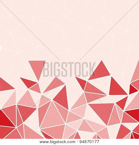 Red Geometric Abstract Baclground