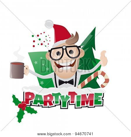 funny christmas party man