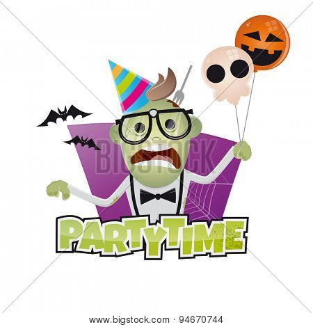 funny halloween party man