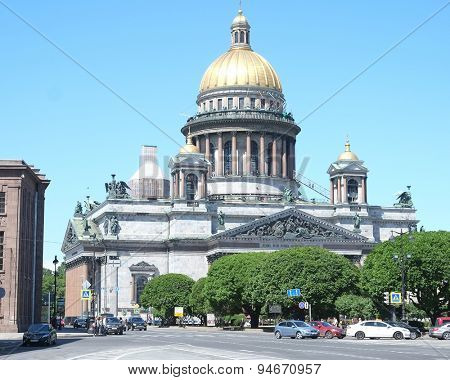 St. Petersburg, Russia, June, 8, 2015: St. Isaac's Cathedral, one of the famoust buildings of St. Petersburg, Russia