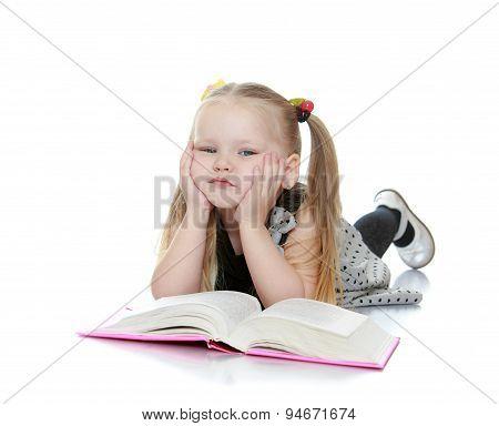 Portrait of a little girl blondes