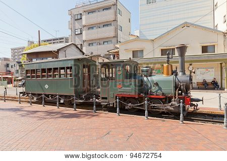 Botchan Train (replica Of 1888 Steam Locomotive) In Matsuyama, Japan