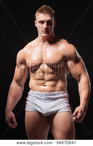 Muscular man in underwear