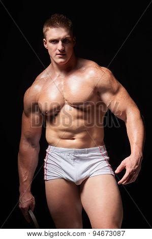 Muscular man in underwear