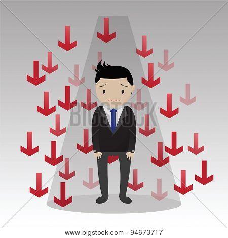 Businessman Failure Concept