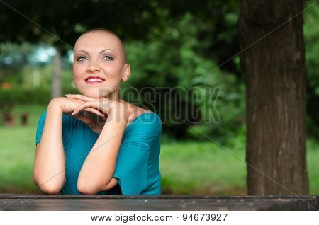 Happy And Young Cancer Survivor After Successful Chemotherapy