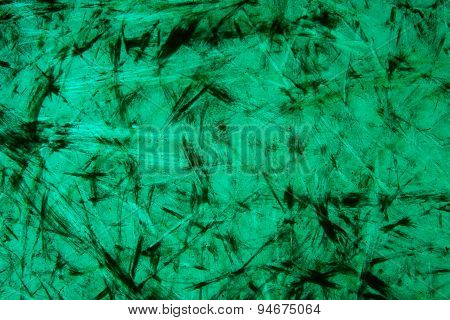Old Green Glass Plate.
