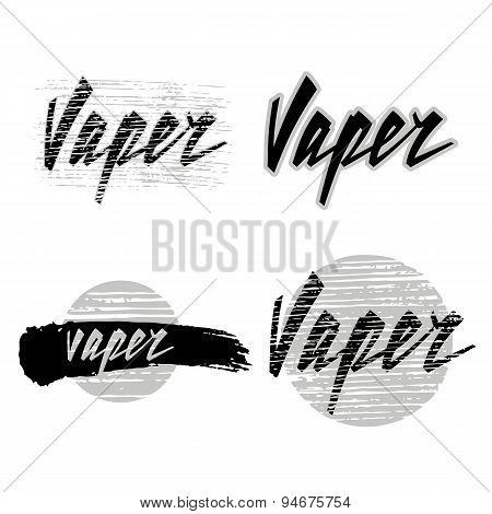 Vaper Lettering. Vector