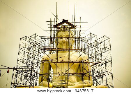 Buddha Statue. under construction