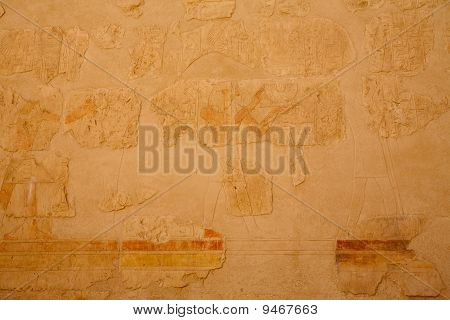 Ancient Egyptian Colored Bas-reliefs