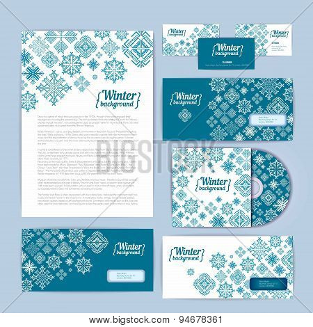 Winter Holiday Corporate Identity