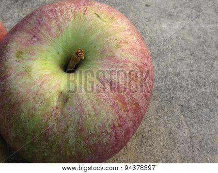 Single Ripe Apple