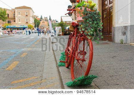 Antique Red Bike