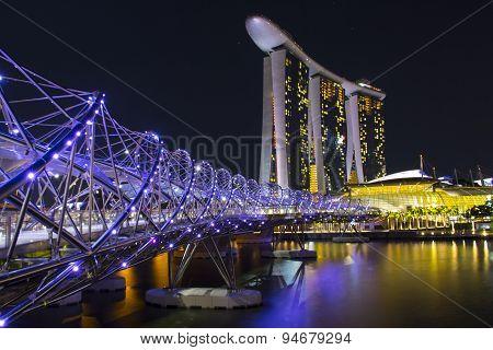 Singapore. View to Marina Bay
