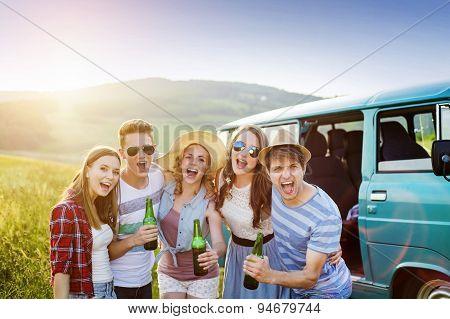 Group of happy teenegers