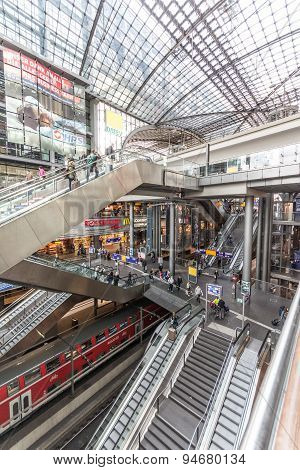 The central station of Berlin (Hauptbahnhof)