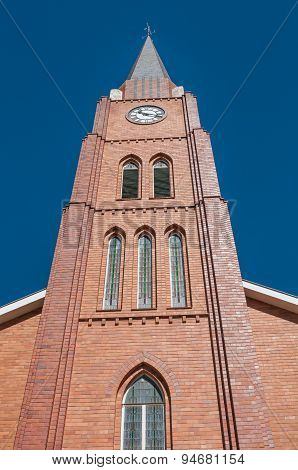 Clock Tower Of The Dutch Reformed Church In Boshof