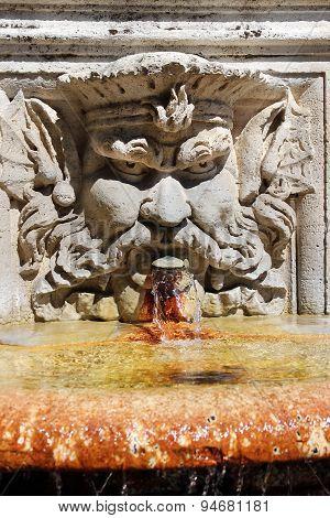 Fountain In The Villa Borghese Gardens, Rome, Italy