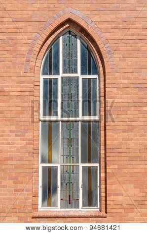 Window At The Dutch Reformed Church In Boshof
