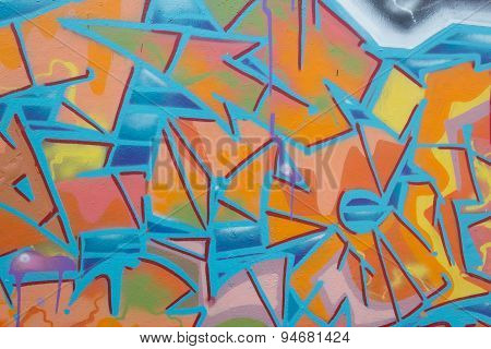 graffiti wall background detail