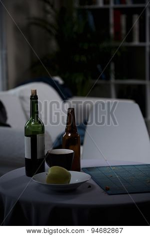 Bottle Of Wine And Beer