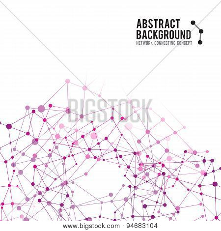 Abstract Background Network Connect Concept - Vector Illustration 003